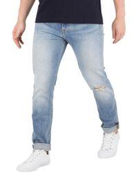 Calvin Klein - Legion Blue Skinny West Jeans - Lyst
