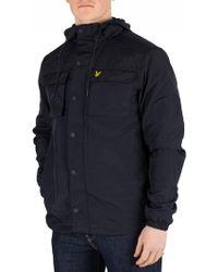 Lyle & Scott - Dark Navy Pocket Jacket - Lyst