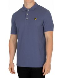 Lyle & Scott - Indigo Blue Logo Poloshirt - Lyst