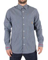 Vivienne Westwood - Blue Stripes Classic Pocket Logo Shirt - Lyst