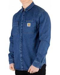 Carhartt WIP - Blue Stone Washed Sallnac Shirt Jacket - Lyst