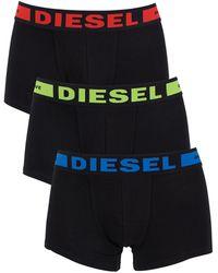 DIESEL - Black 3 Pack Seasonal Boxer Logo Trunks - Lyst