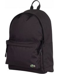 Lacoste - Black Backpack - Lyst