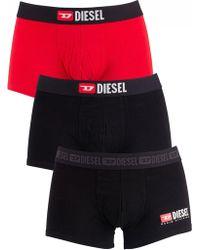 DIESEL - Black/navy/red 3 Pack Damien Trunks - Lyst
