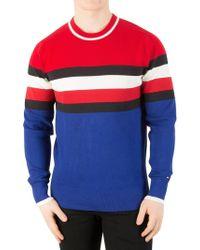 Tommy Hilfiger - Haute Red Sporty Cotton Stripe Knit - Lyst