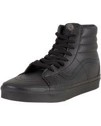 Lyst Vans Sk8 Hi Trainers All Black In Black For Men Save