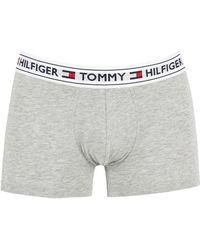Tommy Hilfiger - Grey Heather Authentic Logo Trunks - Lyst