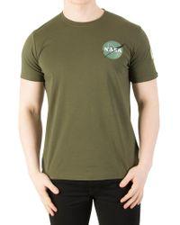 Alpha Industries - Dark Green Space Shuttle T-shirt - Lyst