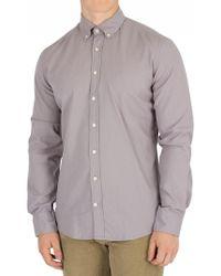 Hackett - Steel Grey Slim Fit Delave Oxford Shirt - Lyst
