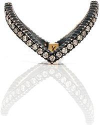 Yossi Harari - Lilah Diamond Pave V Ring - Lyst