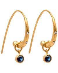 Yossi Harari - Reyna Sapphire With Diamonds Hoop Earrings - Lyst