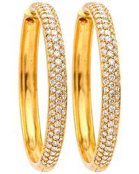 Darlene De Sedle - Triple Row Diamond Hoop Earrings - Lyst