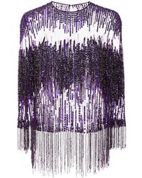 Naeem Khan - Purple Top - Lyst