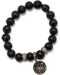 Loree Rodkin - Carved Bead Ying Yang Bracelet - Lyst