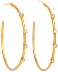 Yossi Harari - Jane Diamond Accent Hoop Earrings - Lyst