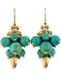 Ted Muehling - Chinese Turquoise Bug Cluster Earrings - Lyst
