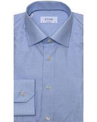 e5ece47b5fd Lyst - Eton of Sweden Denim Western Shirt in Blue for Men