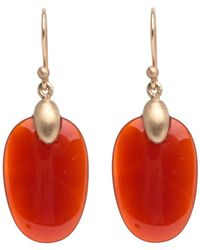 Ted Muehling - Carnelian Small Chip Earrings - Gold Top - Lyst