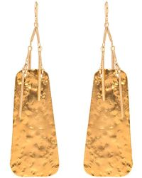 Devon Leigh | Hammered Gold Fringe Drop Earrings | Lyst