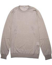Eleventy - Sand Crew Neck Knit Sweater - Lyst