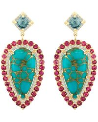 Eden Presley - Turquoise Spinel Earrings - Lyst