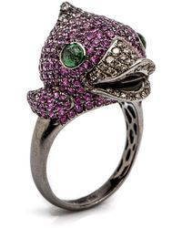 Wendy Yue - Pink Sapphire Duck Ring - Lyst