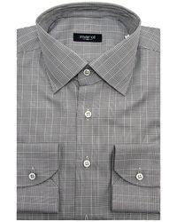 Marol - Black And White Glen Plaid Dress Shirt - Lyst