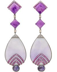 Wendy Yue - Purple Jade Drop Earrings - Lyst