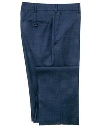 Belvest - Blue Flannel Dress Pant - Lyst