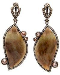 Loree Rodkin | Small Paisley Pave Diamond Earrings | Lyst