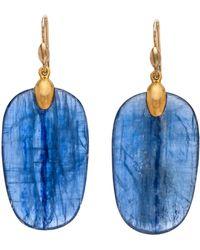 Ted Muehling - Handcut Kyanite Large Chip Earrings - Lyst