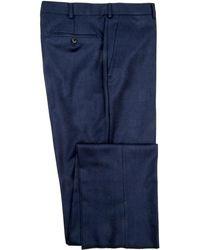 Belvest - Navy Flannel Dress Pant - Lyst