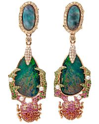 Wendy Yue - Opal Beetle Earrings - Lyst
