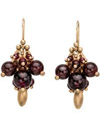 Ted Muehling - Garnet Bug Cluster Earrings - Lyst