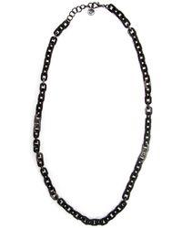 Nest - Black Horn Rectangular Link Necklace - Lyst