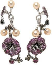 Wendy Yue - Pearl Flower Earrings - Lyst