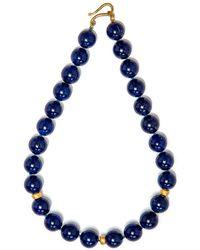 Darlene De Sedle - Lapis Bead Necklace - Lyst