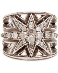 Loree Rodkin - Diamond Grey Star Ring - Lyst