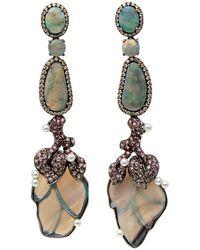 Wendy Yue - Opal Leaf Drop Earrings - Lyst