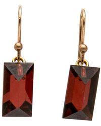 Ted Muehling - Handcut Garnet Gem Earrings - Lyst