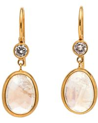 Darlene De Sedle - Diamond And Moonstone Earrings - Lyst