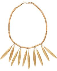 Julie Cohn - Yew Leaf Necklace In Bronze - Lyst