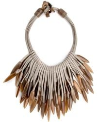 Nest | Horn Tip Leather Necklace | Lyst