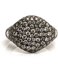 Loree Rodkin - All Pave Small Signet Ring - Lyst