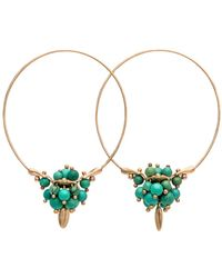 Ted Muehling - Chinese Turquoise Cluster Hoop Earrings - Lyst