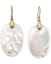 Ted Muehling - Gold Mother Of Pearl Large Chip Earrings - Lyst