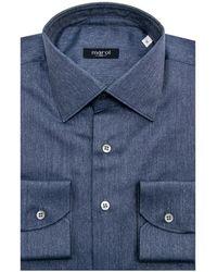 Marol - Blue Melange Twill Dress Shirt - Lyst