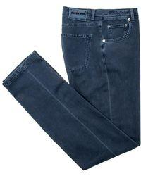 Kiton - Navy 5 Pocket Jean - Lyst