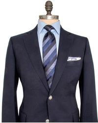 Belvest - Solid Navy Twill Sportcoat - Lyst