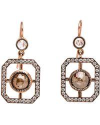 Sylva & Cie - Diamond Window Earrings - Lyst